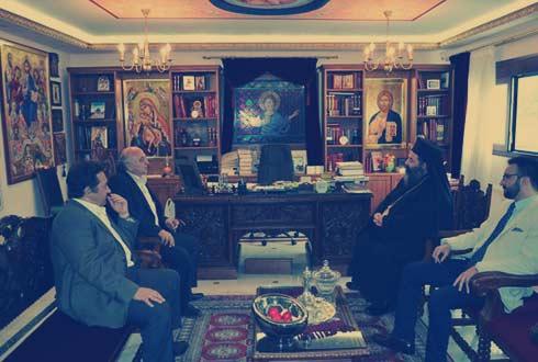 Η τριμελής αντιπροσωπεία του ΣΥΡΙΖΑ στο κονάκι του δεσπότη Λαγκαδά (υπόθεση Ροτόντα) -