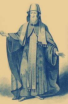 Χαρακτικό J.B.Bird, σε εικόνα του Picart,  εκδ.Fullarton, από το World Religion