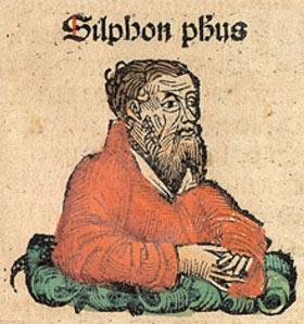 Ο «αγνωστικιστής» Στίλπων ο Μεγαρεύς όπως απεικονίστηκε στο «Χρονικό της Νυρεμβέργης» (1493), πανομοιότυπα με το Σπεύσιππο