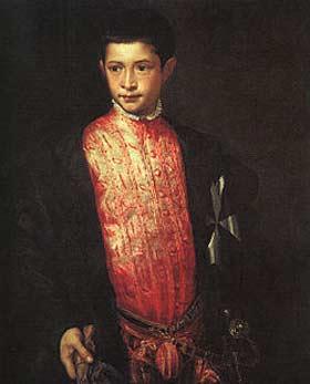 Τιτσιάνο-1542, «Καρδινάλιος νέπος» ('Cardinalis nepos'): Η Αγιότης του, ο  12χρονος Ιππότης της Μάλτας, μετέπειτα 15χρονος καρδινάλιος Ρανούτσιο Φαρνέζε, Λατίνος τιτουλάριος πατριάρχης της Κωνσταντινούπολης, νόθος εγγονός του πάπα Παύλου του 3ου. Στους Ορθόδοξους που θα φρίξουν, να υπενθυμίσω πως και ο νεποτισμός της Εκκλησίας τους παρήγαγε πολλούς, ακόμη και ανήλικους, πατριάρχες και επισκόπους με χαρακτηριστική περίπτωση νεποτισμού τον 19χρονο ευνούχο πατριάρχη Στέφανο Α΄, γιό και αδελφό αυτοκρατόρων, που αντί να αναθεματιστεί για την καταπάτηση των κανόνων της πατριαρχικής εκλογής, αγιοποιήθηκε κι από πάνω (η μνήμη του τιμάται 18 Μαϊου).