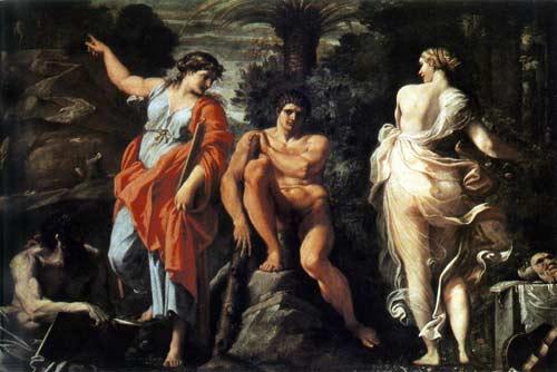 Η εκλογή του Ηρακλή («Αρετή ή Κακία»). Αννίβας Caracci-1596 Mουσείο Capodimonte, Nεάπολη-Ιταλία.