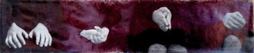 Mani (scolari), 2013, Photographies, stylo bille,  183x40 cm