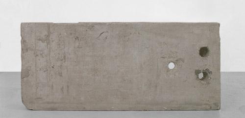 ©Maurice Blaussyld. Granit, 1998 granite, paper, black ink 145 x 80 x 25 cm