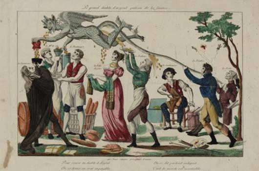 Αγνώστου: 'Ο Μεγάλος Διάβολος του Χρήματος, αφέντης της Οικονομίας'-1798                                                          ('Εθνική Βιβλιοθήκη της Γαλλίας')