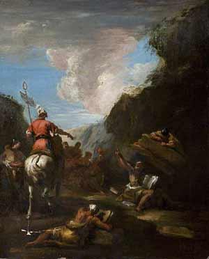 Sebastiano Ricci Ο Ιέρων καλεί τον Αρχιμήδη να υπερασπιστεί την πόλη (1720-1730). Δουβλίνο-Εθνική Πινακοθήκη της Ιρλανδίας.