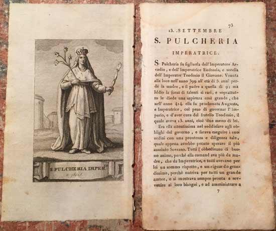 «Ζωές των « Αγίων για κάθε μέρα του χρόνου με πορτρέτα από χαλκό….», Φλωρεντία- Lorenzo Bardi και Angiolo Garinei , 1819.