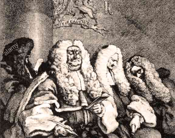 "justice courtroom scenes ""The Judges"" by William Hogarth (1697 - 1764) copper engraving 1758 18th century graphic graphics"