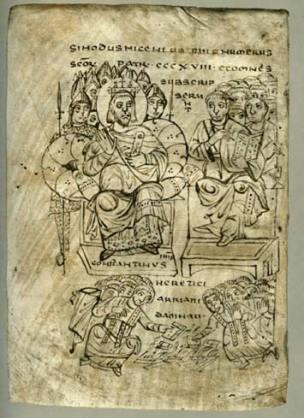 Καύσεις βιβλίων από τον Αγ.Κωνσταντίνο, τον Ισαπόστολο (Jean Hubert «Europe in the Dark Ages»-London: Thames & Hudson, 1969)