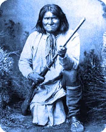 Jeronymo, ο αρχηγός των Απάτσι -εξαγριωμένος